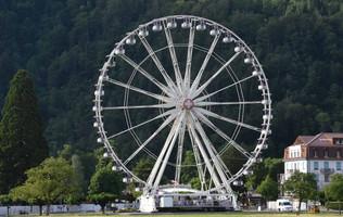 Neuer Standrot für das Riesenrad auf der Höhematte beim Hotel Du Nord
