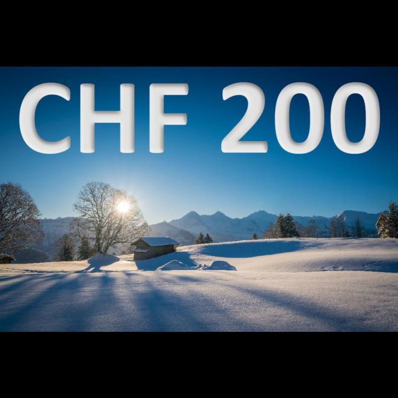 Erlebnisgutschein CHF 200