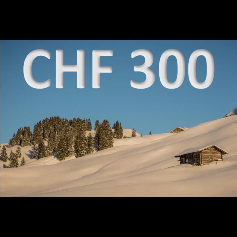 Erlebnisgutschein CHF 300