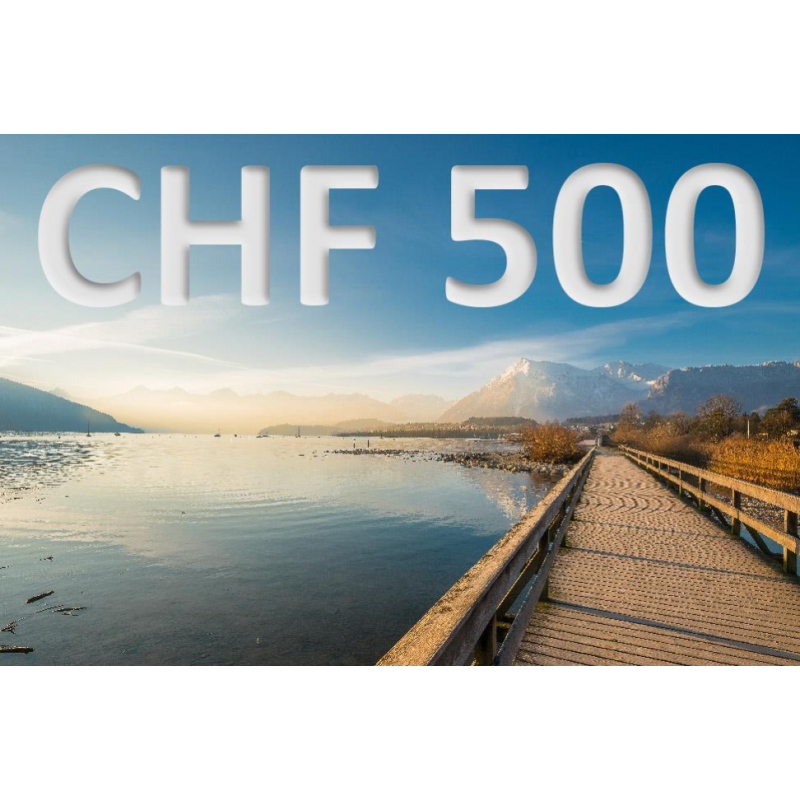 Erlebnisgutschein CHF 500