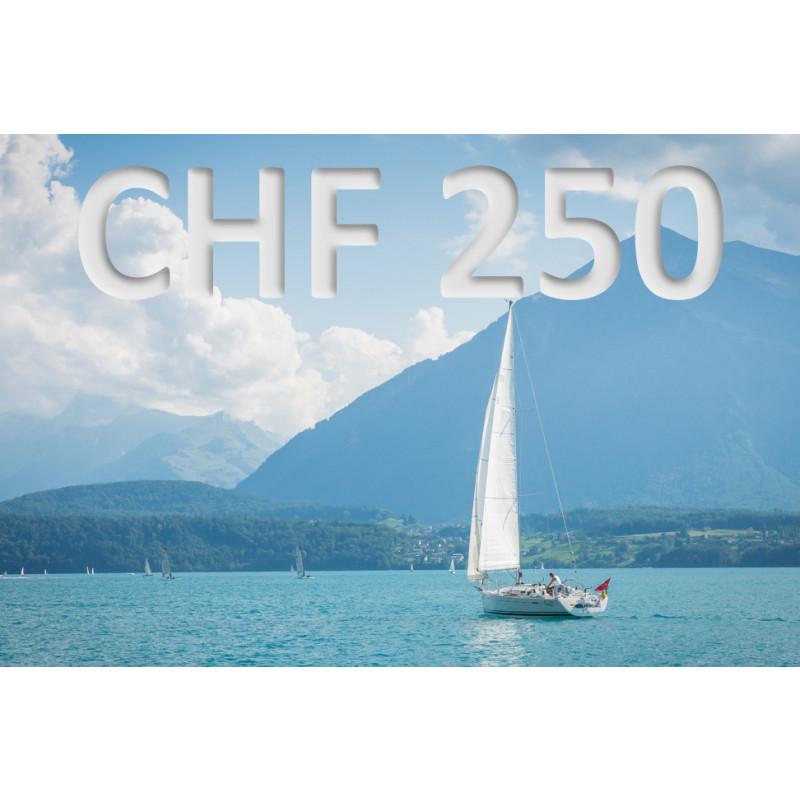 Bon découverte de CHF 250.–
