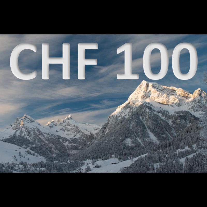 Bon découverte de CHF 100.–