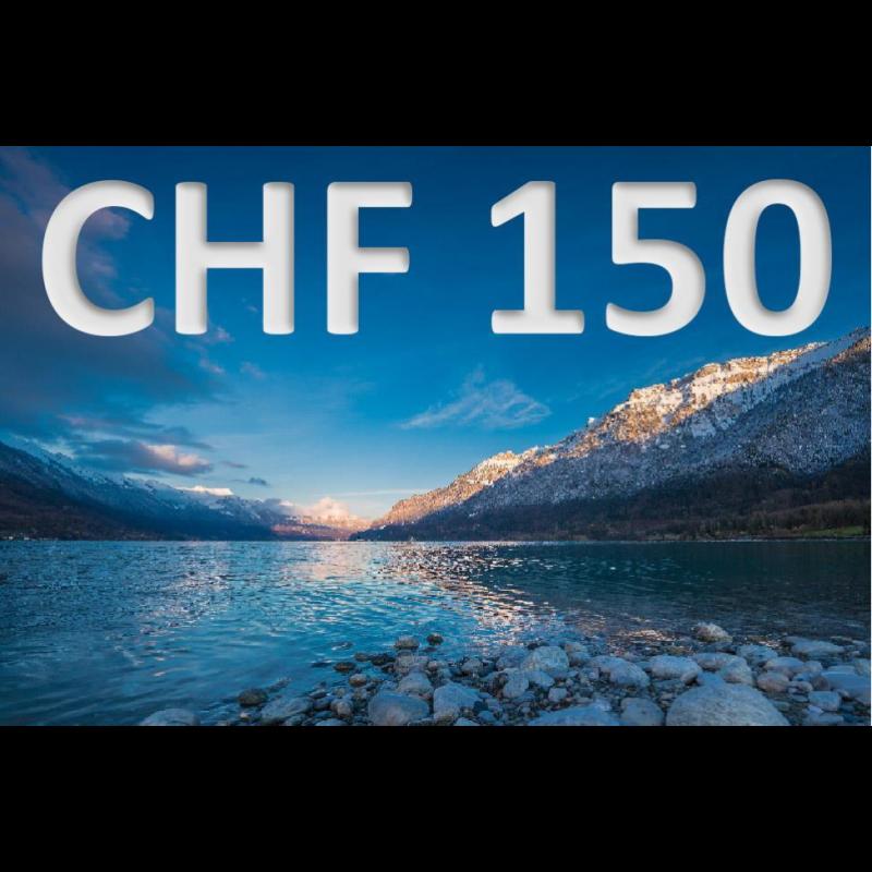 Bon découverte de CHF 150.–