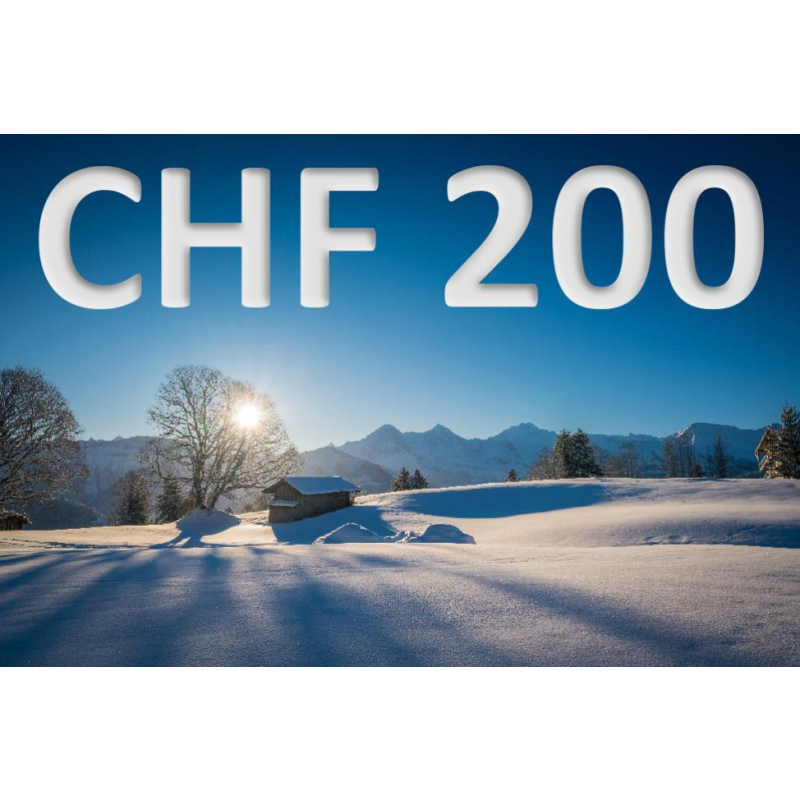 Bon découverte de CHF 200.–