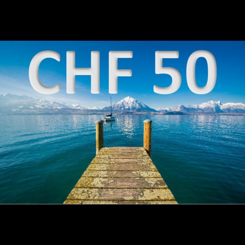 Bon découverte de CHF 50.–