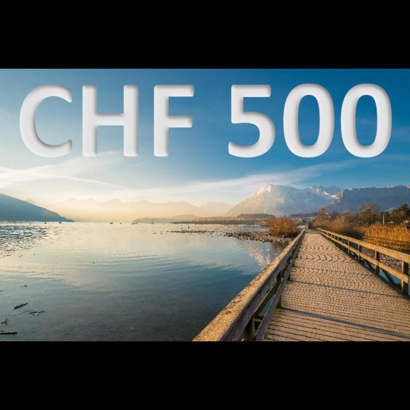 Bon découverte de CHF 500.–